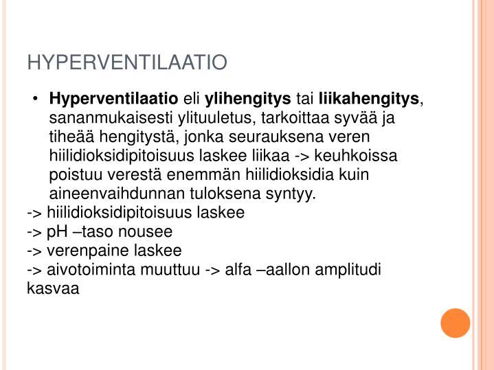 HYPERVENTILAATIO