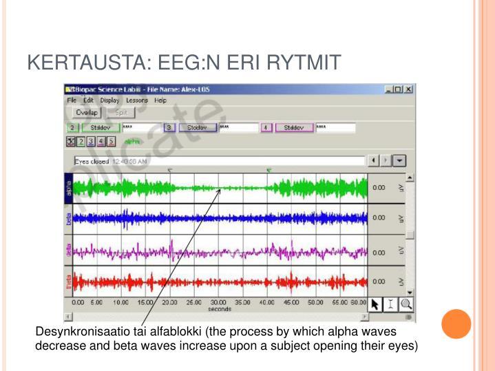 KERTAUSTA: EEG:N ERI RYTMIT