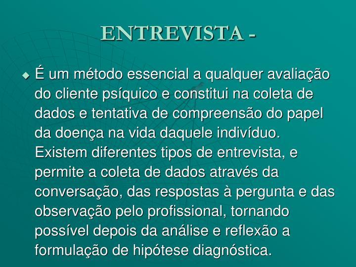 ENTREVISTA -