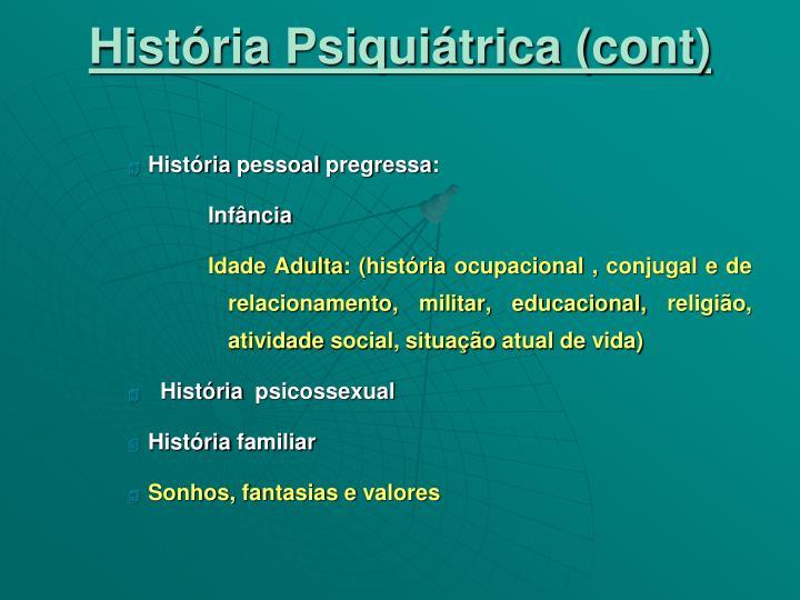 História Psiquiátrica (