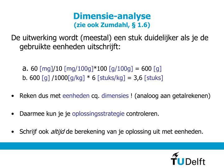 Dimensie-analyse