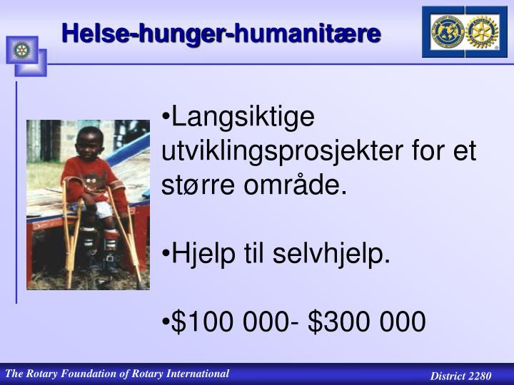 Helse-hunger-humanitære