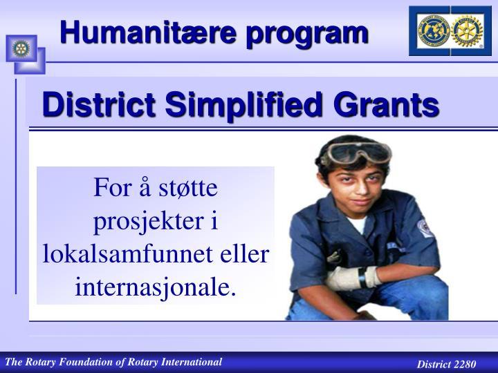 Humanitære program