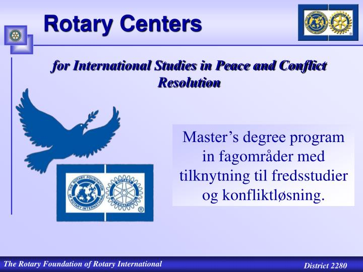Rotary Centers