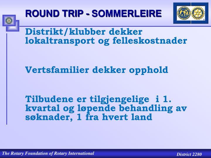 ROUND TRIP - SOMMERLEIRE