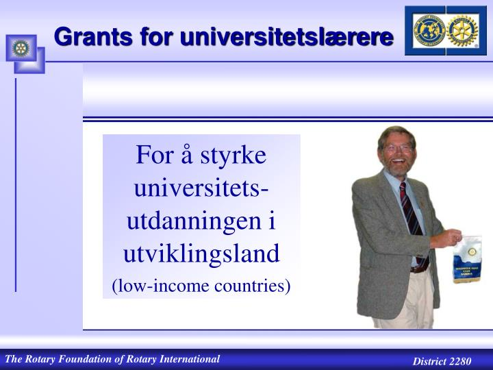 Grants for universitetslærere