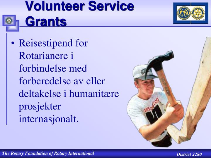 Volunteer Service Grants