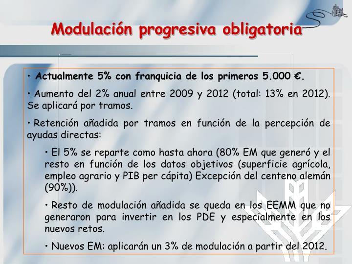 Modulación progresiva obligatoria
