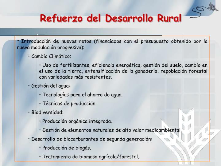 Refuerzo del Desarrollo Rural