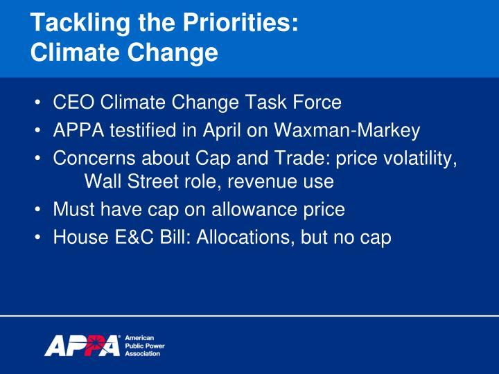 Tackling the Priorities: