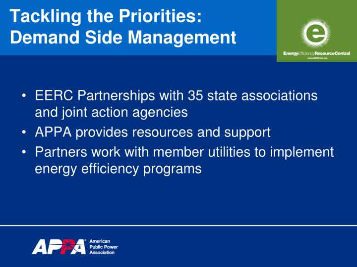 EERC Partnerships with 35 state associations and joint action agencies