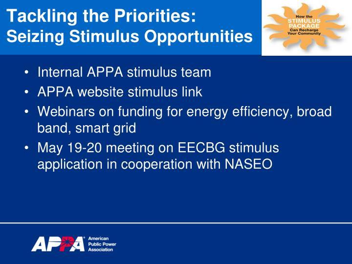 Internal APPA stimulus team
