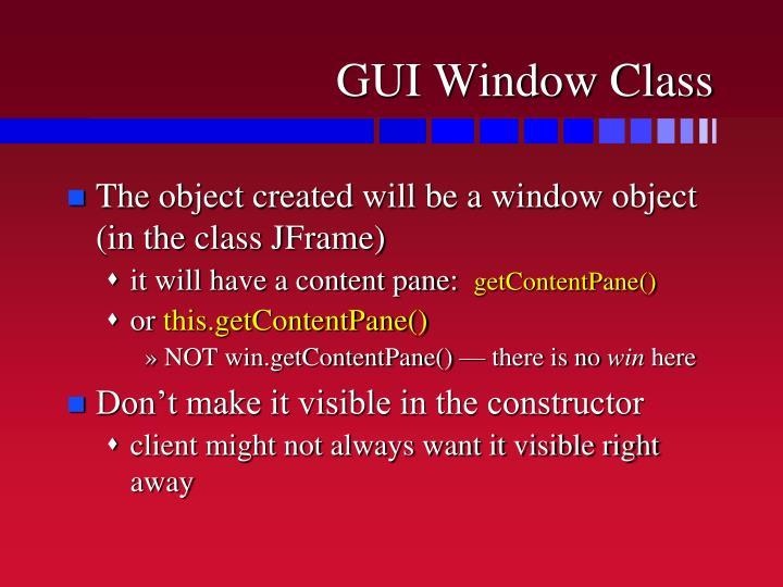GUI Window Class