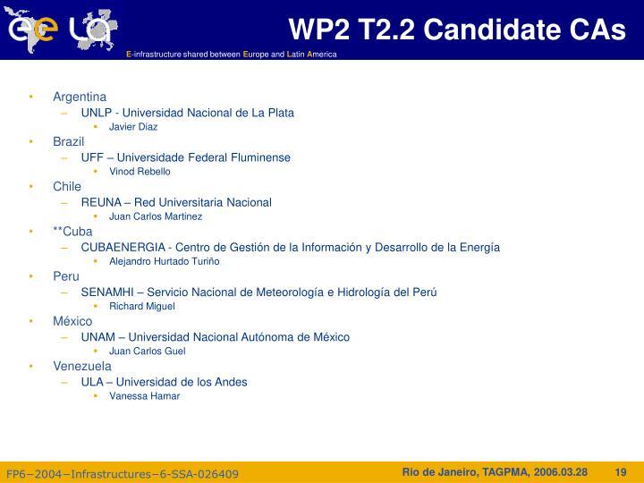 WP2 T2.2