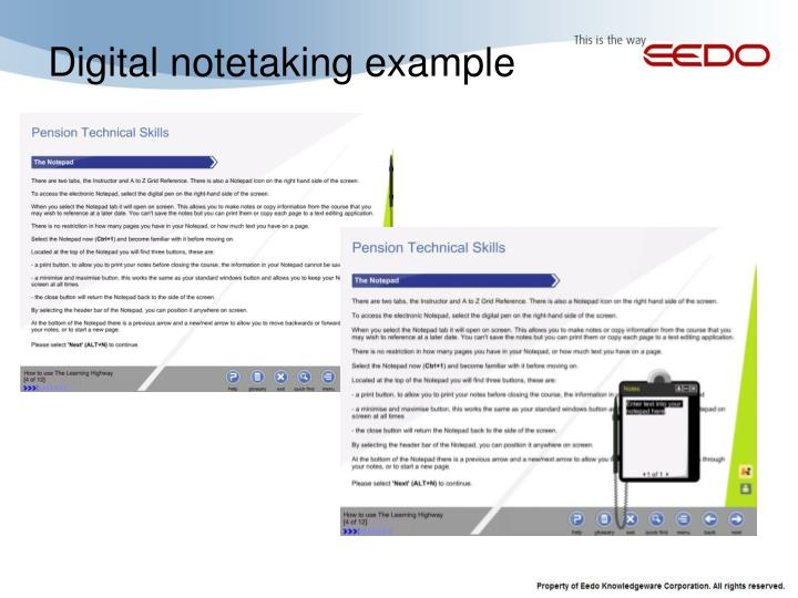 Digital notetaking example