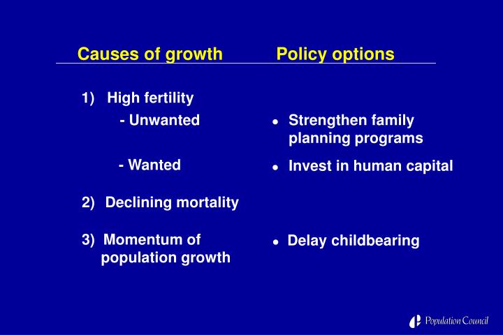 Causes of growth