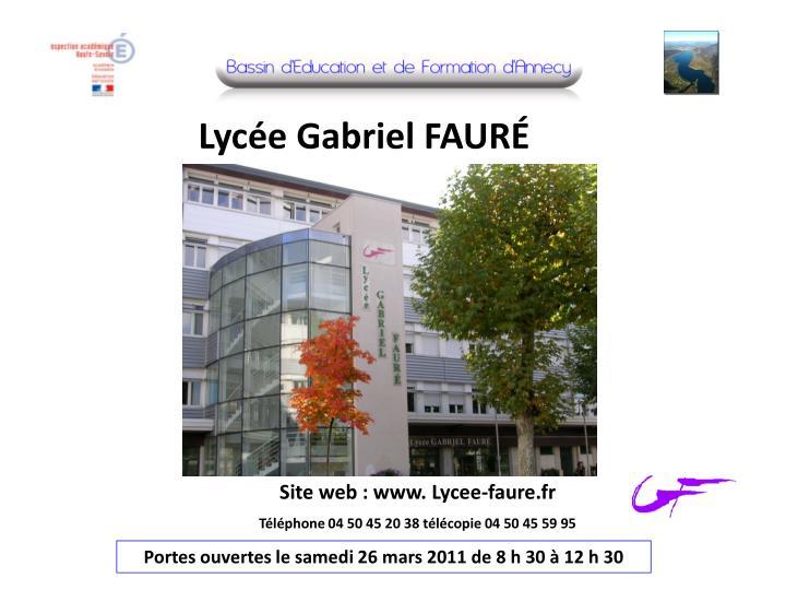 Lycée Gabriel FAURÉ