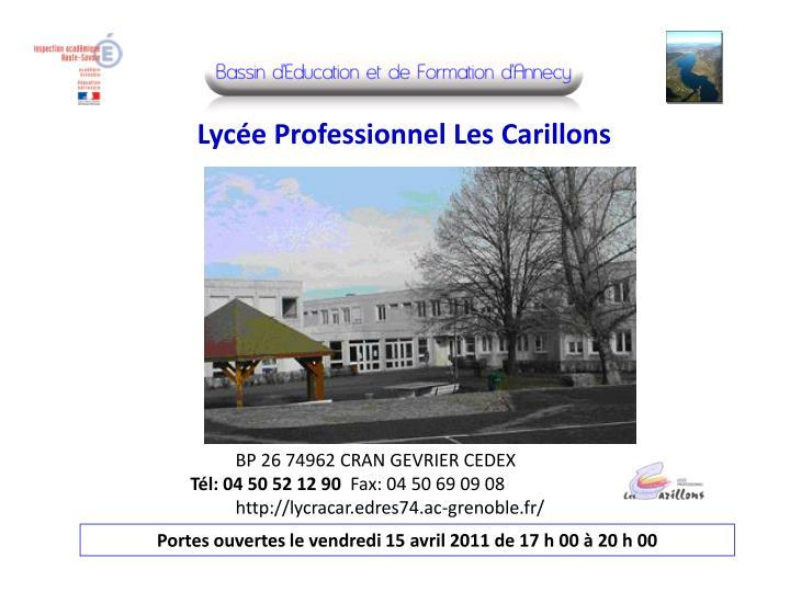 Lycée Professionnel Les Carillons