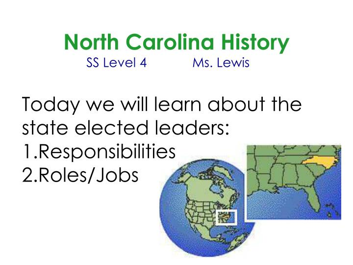 North Carolina History