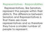 representatives responsibilities