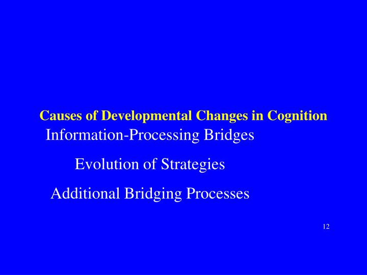Causes of Developmental Changes in Cognition