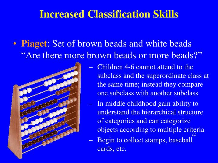 Increased Classification Skills