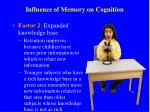 influence of memory on cognition1