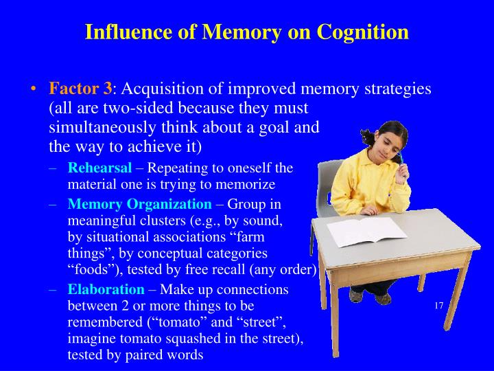 Influence of Memory on Cognition