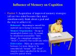 influence of memory on cognition2