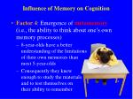 influence of memory on cognition3
