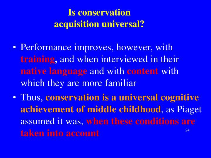 Is conservation