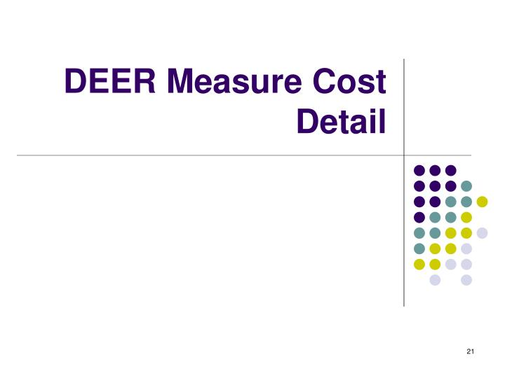 DEER Measure Cost Detail