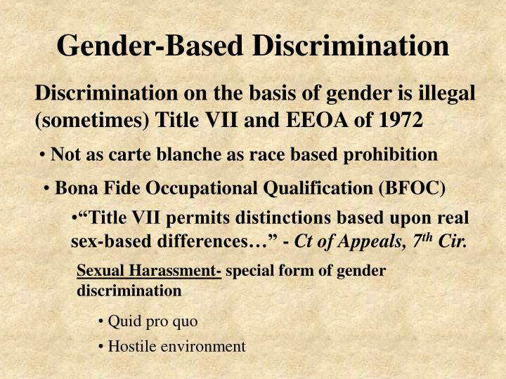 Gender-Based Discrimination