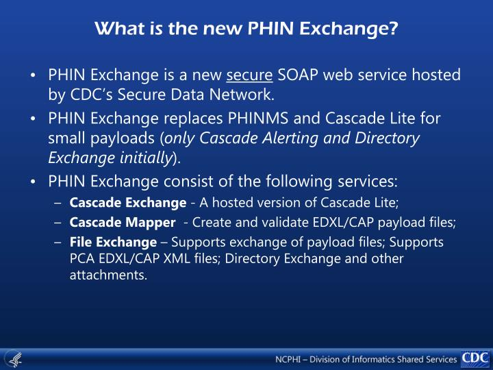 What is the new phin exchange