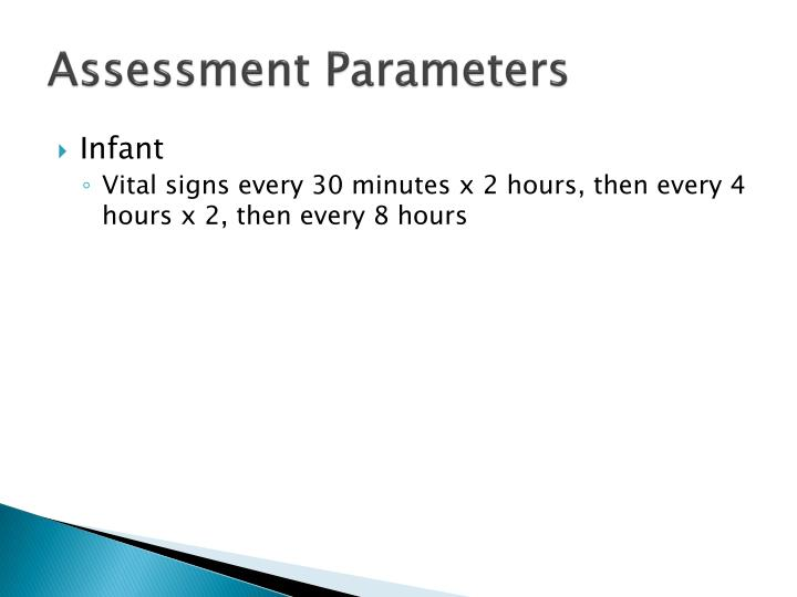 Assessment Parameters