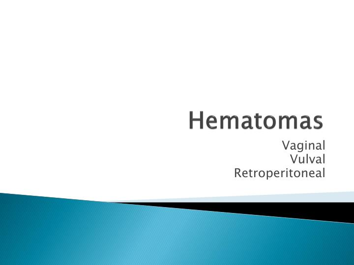 Hematomas