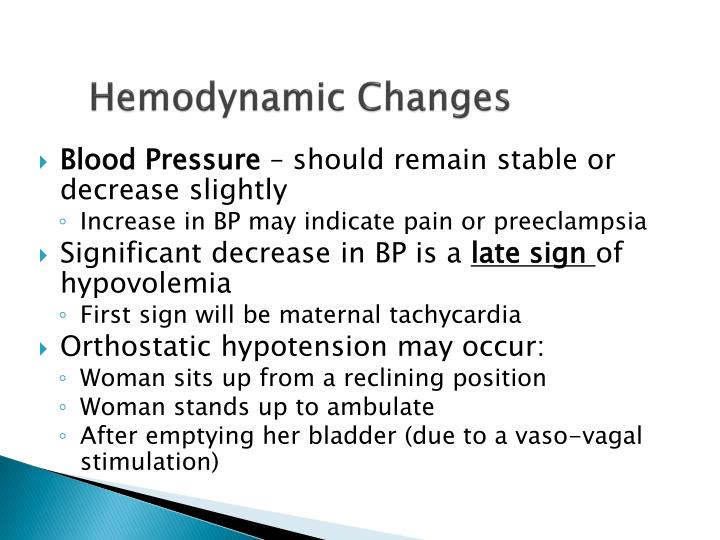 Hemodynamic Changes