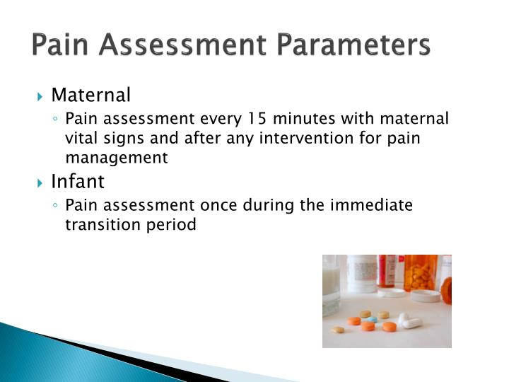 Pain Assessment Parameters