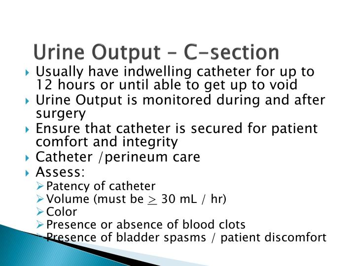 Urine Output – C-section
