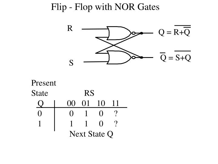 Flip - Flop with NOR Gates