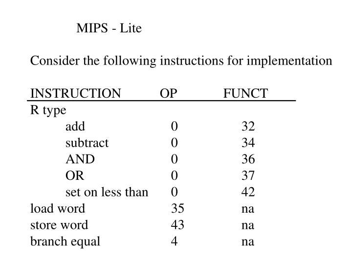 MIPS - Lite