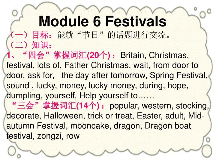 Module 6 Festivals