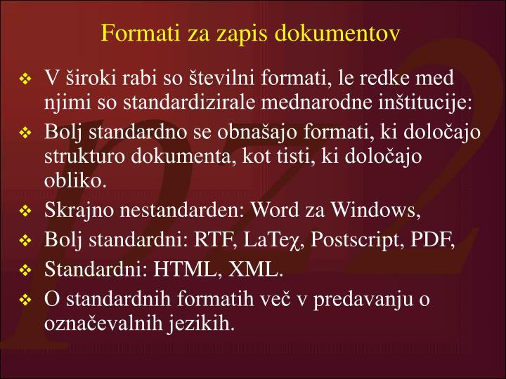 Formati