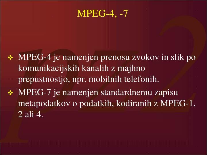 MPEG-4, -7