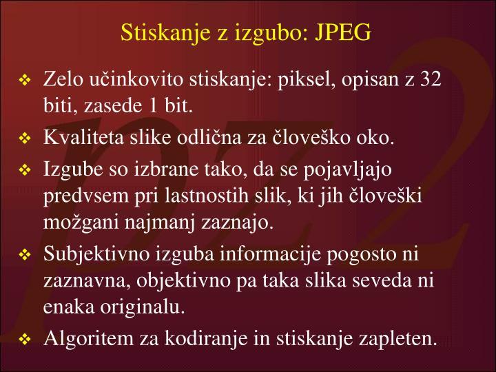 Stiskanje z izgubo: JPEG