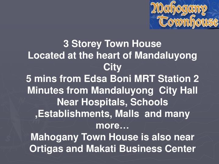 3 Storey Town House