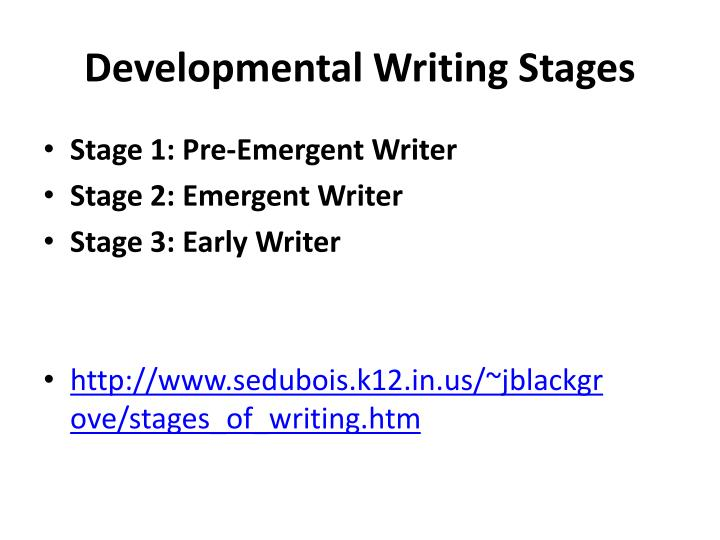 Developmental Writing Stages