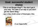 goal successful student choice