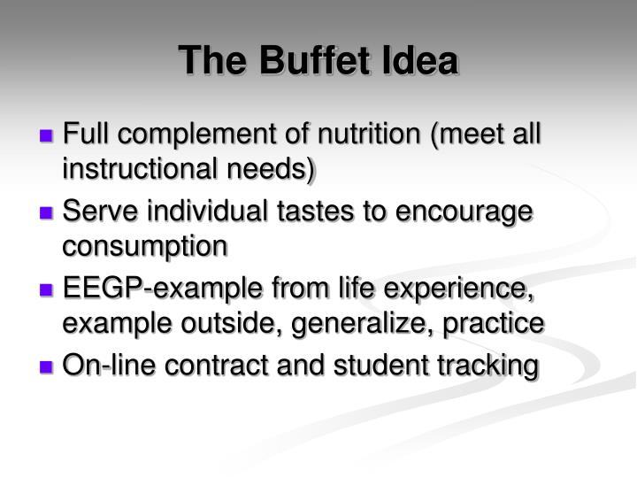 The buffet idea