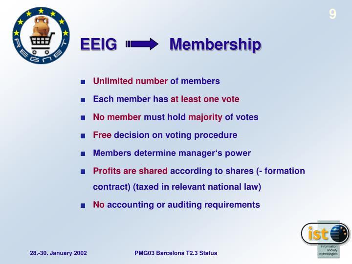 EEIG            Membership